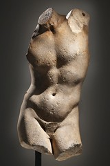 Torso of the Apollo Sauroktonos. This life-size torso derives from a fine quality marble copy of a celebrated Greek original in bronze of the mid-4th century B.C. // by Praxiteles (mike catalonian) Tags: apollosauroktonos ancientgreece 4thcenturybc sculpture praxiteles