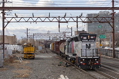 """Taking """"General Purpose"""" to a New Level (sully7302) Tags: morristown erie nj transit lease newark broad street emd gp40ph2 4106 cnj freight me njtr"""