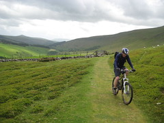 Malcolm on the long climb up to almost 700m (neil.finnes) Tags: dorset rough brecon beacons riders