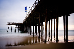 Pismo Pier (D.P. Kuras) Tags: california longexposure travel sea beach evening pier surf waves surfer surfing centralcoast