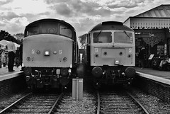 45133 and 47367 at Sheringham (Aaron 56125) Tags: north group norfolk rail railway class 45 451 british society sheringham 47 stratford preservation the 47367 45133