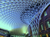 Kings Cross (Lazy B) Tags: uk roof england london station modern diamonds grid railway ceiling kingscross concourse fz150