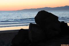 ElPortoSunset (mcshots) Tags: ocean california sunset sea summer usa mountains beach water birds reflections stock socal mcshots southbay shorebirds losangelescounty