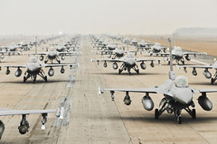 Airpower (Official U.S. Air Force) Tags: usa f16 southkorea elephantwalk godbless kunsan taxidownarunway
