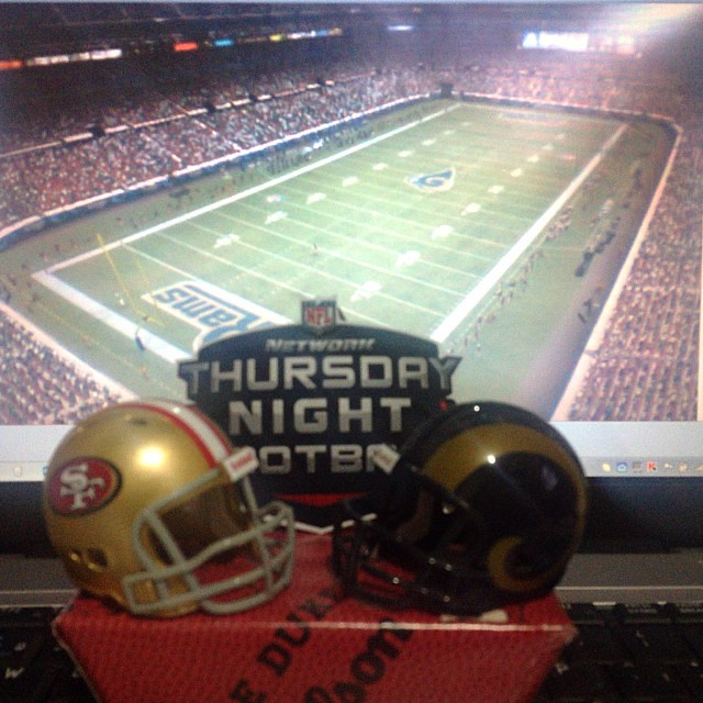 THURSDAY NIGHT FOOTBALL San Francisco 49ers@St. Louis Rams 26-09-13