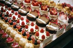 dessert case (victoriayiyau) Tags: film 35mm dessert losangeles kodak olympus portra om1 dtla olympusom1 portra400 bottegalouie portra400pushedto800