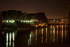 River Hull and the Arctic Corsair (mark_fr) Tags: life christmas street new bridge tree museum marina mr eagle yorkshire royal pedestrian east arctic kingston riding workshop corsair knight peppers tug gillian hull princes saab upon rix lightship infirmary yorks spurn pushette