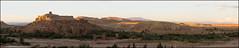 Fire in the mountains (Ciao Anita!) Tags: friends sunset panorama mountains zonsondergang tramonto morocco atlas marocco photomerge bergen hm montagna unescoworldheritage marokko crepuscolo kasbah atlante kasba aitbenhaddou kashba theperfectphotographer soussmassadaraâ unescowerelderfgoedlijst unescopatrimoniodellumanità fotoworkshopnl
