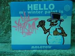 hello my winter paint is (.Trauma .) Tags: hello winter portugal graffiti is paint stickers cartoon trade trauma t2 troca autocolantes