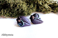 Leaves Obsession N17, stud earrings (Alkhymeia) Tags: wood blue autumn art fall nature earings leaves foglie forest spiral leaf al woods purple natural artistic handmade spirals turquoise unique ooak magic artesanal violet craft jewelry bijoux pasta jewellery polymerclay fimo fairy lilac fantasy clay wicked gift handcrafted lobo swirl earrings wearable ideas magical stud enchanted whimsical handcraft artesania wiccan elvish polymer premo arcilla argilla artigianato orecchini incantato artigianale polimer bizuteria a sintetica polimerica perno arcillapolimerica fatato studearrings boscoso fatati incantati boschivo alkhymeia elfici