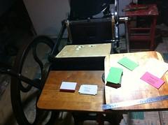 late night printing (artnoose) Tags: price night cards basement business late custom process letterpress candler platen