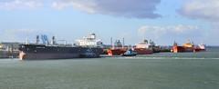 Tankers (R~P~M) Tags: uk greatbritain sea england boat marine ship unitedkingdom vessel hampshire maritime nautical refinery tanker fawley southamptonwater hants
