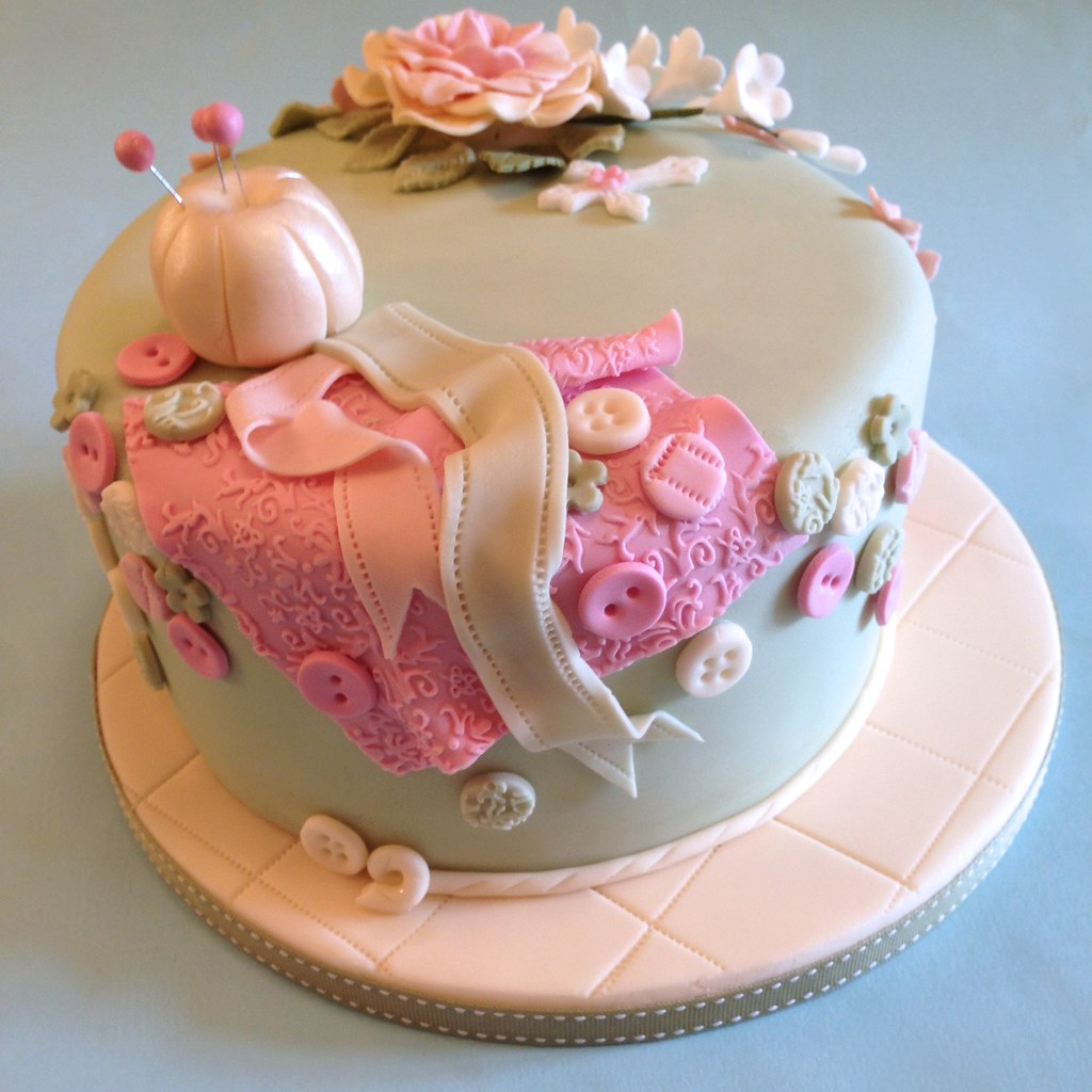Sewing Cake Cakes By Jacques Tags Birthday Pink Grandma Beautiful Vintage Pretty