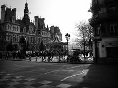 paris hotel de ville (scrapenbaker) Tags: white black paris france de hotel nikon place coolpix ville carrousel
