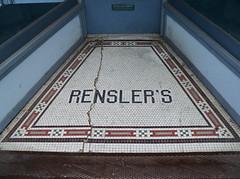 OH Cincinnati - Rensler's (scottamus) Tags: old ohio vintage tile floor cincinnati entrance entryway storefront entry terrazzo hamiltoncounty renslers