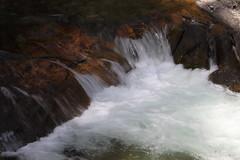 Little waterfall slower shutter (pinkfootpat catching up) Tags: usa wyoming grandtetonnationalpark