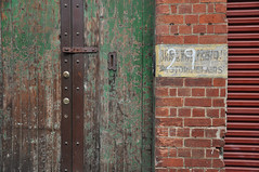 DSC_0494 [ps] - 29 Probably (Anyhoo) Tags: door old urban orange brown brick green texture sign metal wall writing wooden rust iron timber steel painted text pillar entrance australia melbourne victoria backstreet number doorway faded handpainted worn vic laneway lettering 29 palimpsest beaten decayed scuffed ghostsign battered eroded numerals illegible overpainted allcaps numbering anyhoo englishbond guildfordlane motorrepairs photobyanyhoo