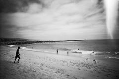 Newport Wedge (Tom Brune) Tags: california summer white black film beach 35mm los angeles wave newport wedge disposable
