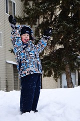 Rose Loves Winter! (Vegan Butterfly) Tags: winter snow playing cute kid vegan child play adorable homeschooling snowsuit