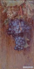 Giulio Cesare Prati Tralcio d uva olio su tavola 40x20cm 1928 Collezione privata