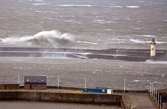 Stormy seas (marra121) Tags: lighthouse water harbour foam cumbria whitehaven seas roughwaves