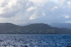 IMG_0056 (jaglazier) Tags: trees mountains architecture buildings islands landscapes seascapes january carribean forests stlucia oiltanks deciduoustrees 2014 castries saintlucia 1614 anselaraye copyright2014jamesaglazier