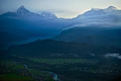 Annapurna peaks Sarangkot view point, Pockara , Nepal (Alex_Saurel) Tags: travel nepal cloud mountain snow montagne sunrise river landscape asian asia village outdoor altitude riviere champs photojournalism peak aerial valley asie fullframe himalaya nuage paysage sunrisesunset pokhara annapurna verdure colline 50mmf14 anapurna estetic 35mmprint pleinformat vision:mountain=0653 vision:outdoor=099 vision:clouds=0778 vision:sky=0931 vision:ocean=0739