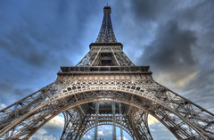 Eiffel Tower HDR (Scott Cartwright Photography) Tags: paris france architecture eiffeltower spooky hdr highdynamicrange scottcartwright shrewsburyphotographer shropshirephotographer shrewburyfreelancephotographer scottcartwrightphotography shropshirefreelancephotographer shrewsburyprofessionalphotographer