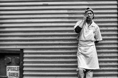 Tired (Gisele Duprez) Tags: nyc restaurant chinatown candid streetphotography smoking