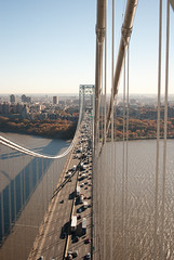 George Washington Bridge (jc1305us) Tags: nyc bridge tower manhattan aerial hudsonriver heights gwb portauthority panynj