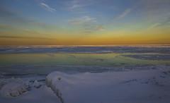 Grand Lake Michigan Winter (olsonj) Tags: winter sunset snow chicago ice illinois lakemichigan