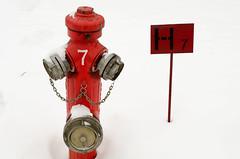 Fire hydrant (Adrian Mitu) Tags: red snow hydrant fire 7 chain