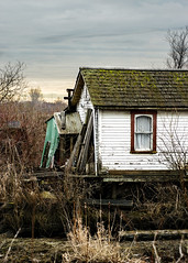 Waterfront Property [Finn Slough Series] (Prestidigitizer) Tags: vancouver fishing cabin village decay marsh decrepit finnslough pentaxda50135mm mygearandme pentaxk3