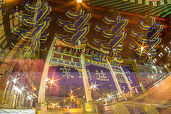 March 26, 2014 (Amanda Catching) Tags: city longexposure morning light skyline vancouver doubleexposure line east