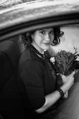 Classical beauty (DonStevie) Tags: leica flowers wedding blackandwhite bw girl beautiful beauty vintage blackwhite bokeh classical m9 darkhair weddingphotography bokehsmoothsilky leicam9 leicamonochromlove