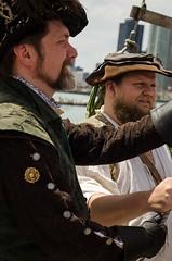 Sir Francis Drake and John T. Hawser (Pahz) Tags: chicago pirates windy lakemichigan greatlakes navypier tallship bristolrenaissancefaire chicagoillinois tallshipwindy bristolpirates