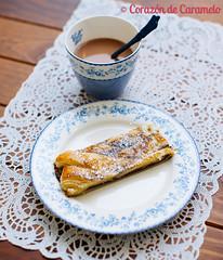Trenza de hojaldre rellena de chocolate y platano (Corazn de Caramelo) Tags: food cakes postres pie recipe blog cookie comida pudding desserts sweets recetas reposteria tartas corazndecaramelo