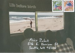 Life Before Birth (dcs577) Tags: art beach collage paper mail cut postcard paste birth craft stamp envelope letter