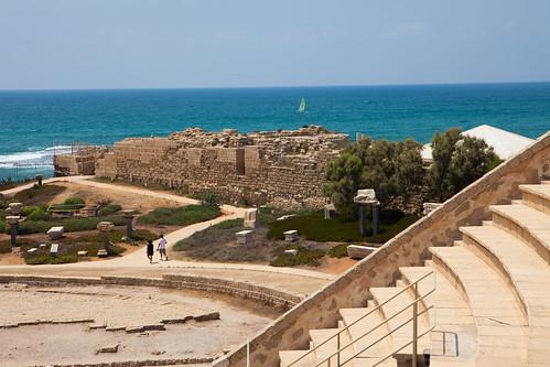 Caesarea amphitheater _ sea_Dana Friedla by Israel_photo_gallery, on Flickr