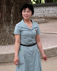 A guide at the Koryo Museum, Kaesong, North Korea (Todd Mecklem) Tags: people woman museum women asia korea korean guide guides northkorea dprk koryo northkorean kaesong