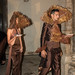 Models recreant l'obra de Joan Brossa amb vestits que porten ornaments de xocolata. Foto: Santi Pujolàs.