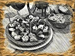 Boceto gastronmico (Franco DAlbao) Tags: francodalbao dalbao lumix drawing boceto sketch efecto effect pulpo polbo octopus comida food alimento feed galicia