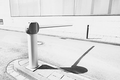 stop (winne pu) Tags: architecture germany mnster nrwbank bw monochrome