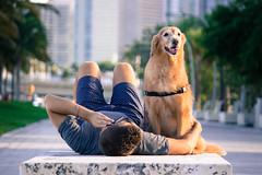Best Friends (Andrea Torres Vargas) Tags: bestfriend dog man hug bff miami downtown photography puppy perro mejoramigo hombre andreatorresvargas usa