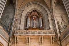 The Organ Pipes at the Elisabethankirche, Basel, Switzerland (HavCanon.WillTravel) Tags: church pipe organ elisabethankirche basel switzerland neogothic canon6d vault arch architecture building handheld
