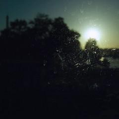 .. (lux fecit) Tags: paris dark bus laseine sunset eiffeltower top trees dirty glass window