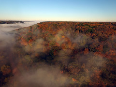 Fog and color by river (ABDKHemings) Tags: drone dji fog
