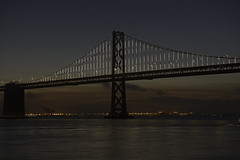 Dawn Breaking at the Bay Bridge (dcnelson1898) Tags: sanfrancisco sanfranciscobay california embarcadero ferrybuilding waterfront downtown dawn longexposure skyline nikond750