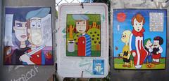 Faded Signs - 10/12/2016 (Mr. MumbleJinx) Tags: mumblejinx stickers stickerart streetart art pittsburgh pennsylvania usa