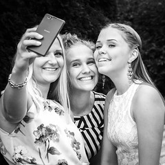 3 X selfie (madmtbmax) Tags: girls having fun selfie mobile phone three woman women portrait snapchat smiling smile beautiful beauty girl beauties youth young teenage teens kvinna donna frau female funny schwarzweiss weiss schwarz black white negro blanco sw bw mv mustavalko finnish finnland finland suomi square nikon d700 85mm